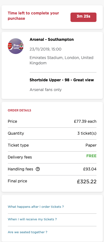 Fanpass checkout - added fees